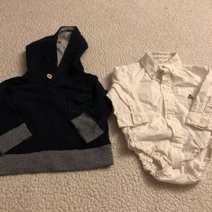 Baby Gap Sweatshirt and Onesie 6-12 Months